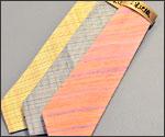 草木染め紬ネクタイの写真