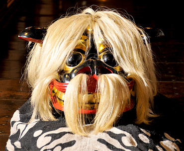 總宮神社黒獅子頭の写真