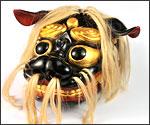 奉納用「振り黒獅子頭」の写真
