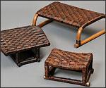 籐製座いすの写真