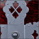 酒田船箪笥の装飾部拡大写真