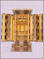 仏壇(100代三方開 欅)の写真