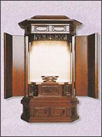 隅切厨子型仏壇の写真