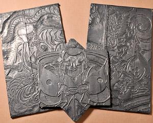 花泉凧の絵柄木版の写真