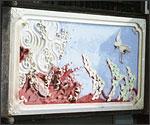 鶴の鏝絵の写真