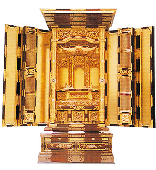 100代三方開き仏壇の写真